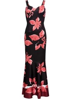Длинные платья Платье макси с тропическим принтом Bonprix