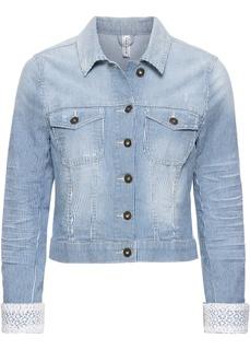 Все куртки Куртка джинсовая с кружевной отделкой Bonprix