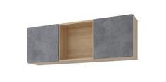 Полка Монца 118/41 см (дуб небраска/бетон тёмный) Home Me