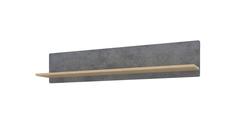 Полка Монца 118/24 см (дуб небраска/бетон тёмный) Home Me