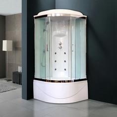 Душевая кабина Royal Bath BK3 100х100х217 стекло белое/прозрачное (RB100BK3-WT-CH)