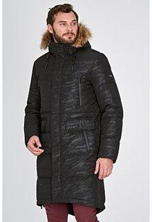 Удлиненный пуховик с отделкой мехом енота Urban Fashion for men