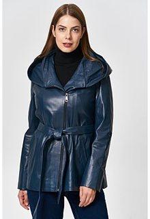 Кожаная куртка с капюшоном Снежная Королева