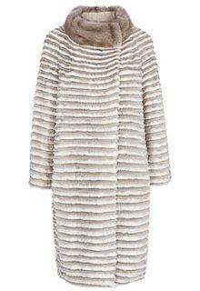 Облегченная шуба из меха норки и кролика Virtuale Fur Collection