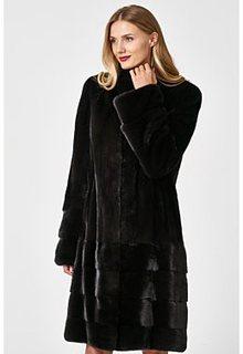 Норковая шуба с воротником-стойкой Empire of Fur