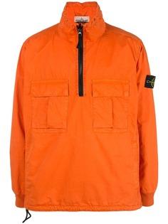 Stone Island куртка с воротником на молнии