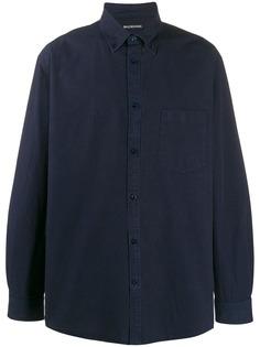 Balenciaga рубашка оверсайз с принтом