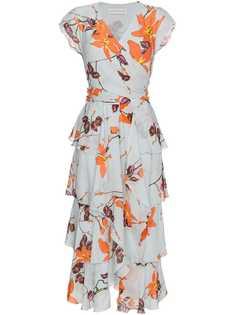 Etro платье с рюшами и цветочным принтом