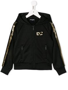 Dsquared2 Kids спортивная куртка с пайетками