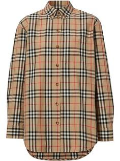 Burberry рубашка в клетку Vintage Check на пуговицах