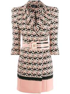 Elisabetta Franchi платье мини с поясом