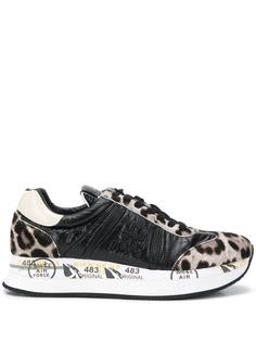 Premiata кроссовки Conny с леопардовым принтом
