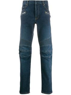 Balmain джинсы со вставками в рубчик