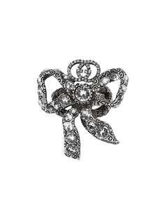 Gucci кольцо с кристаллами