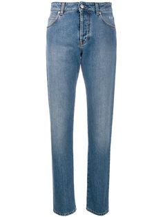 MSGM джинсы прямого кроя с принтом