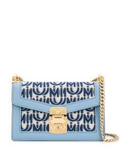 Miu Miu сумка на плечо с жаккардовым логотипом