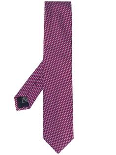Brioni галстук с геометричным узором