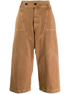 Lanvin укороченные брюки широкого кроя