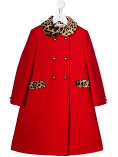 Dolce & Gabbana Kids пальто с леопардовым принтом