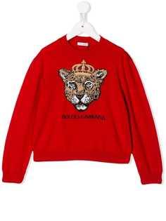 Dolce & Gabbana Kids свитер King Leopard