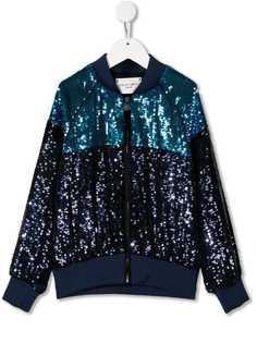 Alberta Ferretti Kids куртка-бомбер с пайетками