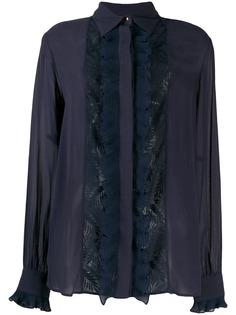 Just Cavalli блузка с кружевными вставками