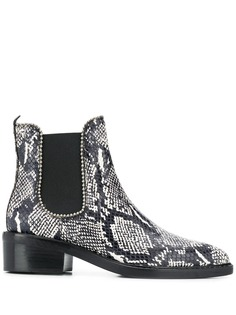 Coach Bowery Bootie Snakeskin boot