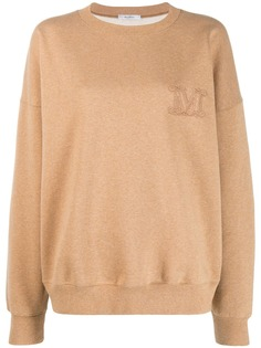 Max Mara трикотажный свитер с вышивкой