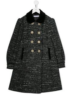 Dolce & Gabbana Kids вязаное пальто