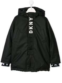 Dkny Kids куртка с контрастным логотипом