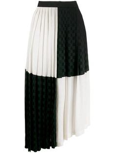 MSGM плиссированная монохромная юбка