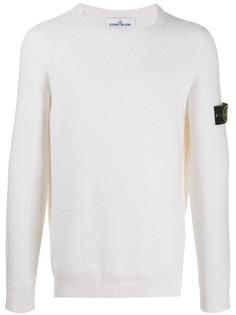 Stone Island свитер с круглым вырезом и логотипом