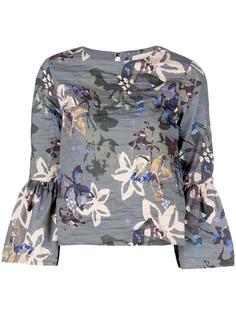 Nicole Miller блузка с принтом