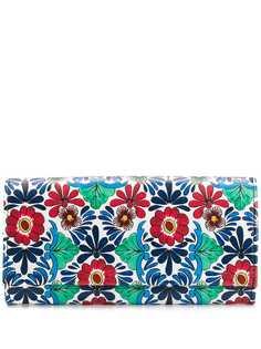 Escada кошелек с цветочным принтом и клапаном