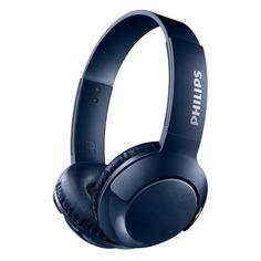 Наушники с микрофоном PHILIPS SHB3075BL, Bluetooth, накладные, синий [shb3075bl/00]