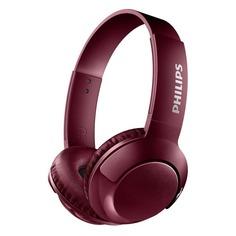 Наушники с микрофоном PHILIPS SHB3075RD, Bluetooth, накладные, красный [shb3075rd/00]