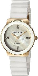 Женские часы в коллекции Diamond Ceramics Женские часы Anne Klein 2714WTGB-ucenka
