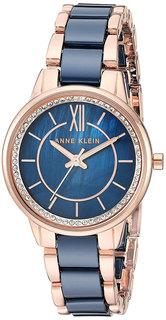 Женские часы в коллекции Ceramics Женские часы Anne Klein 3344NVRG