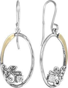 Серебряные серьги Серьги DEN'O MVE1641GCZ Deno