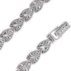 Серебряные браслеты Браслеты Марказит BR256-mr