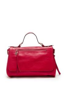 Красная кожаная сумка с люверсами Red Valentino