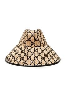Плетеная шляпа с монограммами Gucci