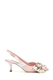 Розовые туфли с открытой пяткой Dolce&Gabbana