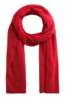 Вязаный шарф красного цвета Bonpoint