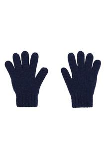 Вязаные перчатки синего цвета Bonpoint