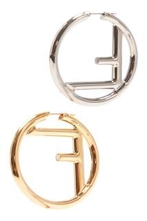 Круглые серьги с монограммой Fendi