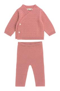 Вязаный костюм розового цвета Bonpoint