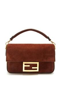 Коричневая сумка Baguette Fendi