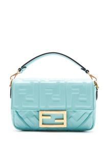 Голубая сумка Baguette с монограммами Fendi