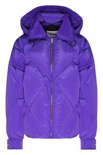 Фиолетовая стеганая куртка Msgm
